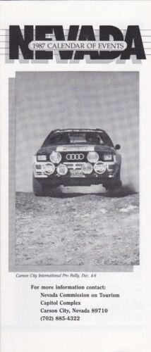 1987 Nevada Calendar Of Events Brochure