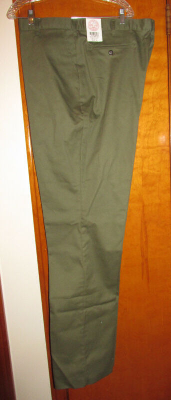 NWT Boy Scouts America BSA Official Uniform Pants Green Adult - Size 46 - Unhemm