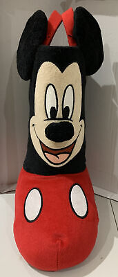"Disney Mickey Mouse Christmas Plush Standing Stocking Boot 13"""