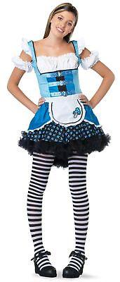 Mushroom Alice In Wonderland Teen Costume Puffed Sleeves Fancy Dress Leg Avenue - Alice In Wonderland Mushroom Costume