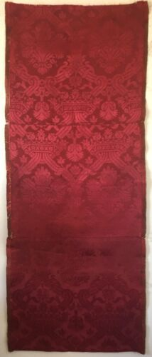 Beautiful Rare 18th C. French Silk Woven Framed Damask Fabric  (3190)