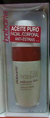 Aceite puro 100% Rosa de Mosqueta, regenerante (Babaria)