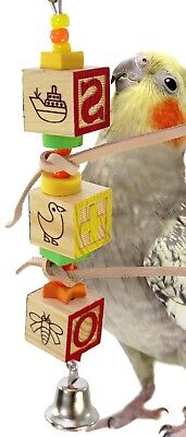 1877 ABC BLOCK TOWER BIRD TOY parrot cage toys cages african grey amazon conure