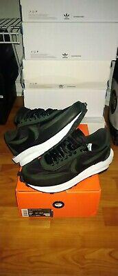 Nike X Sacai LD Waffle Black Nylon Size 8.5