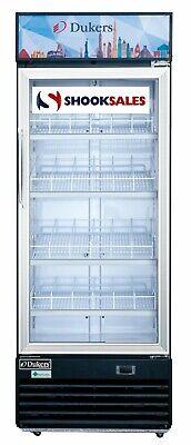 Dukers Dsm-15r 27-inch Glass Door Refrigeration Merchandiser