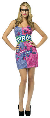 Ne Nerd Dress With Glasses Teen Costume Pink & Purple Fancy Dress Rasta Imposta