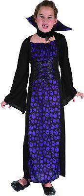 Vampirkostüm lila für Mädchen Cod.221961 ()