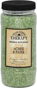Village Naturals Therapy Mineral Bath Soak Aches - Pains 20 oz
