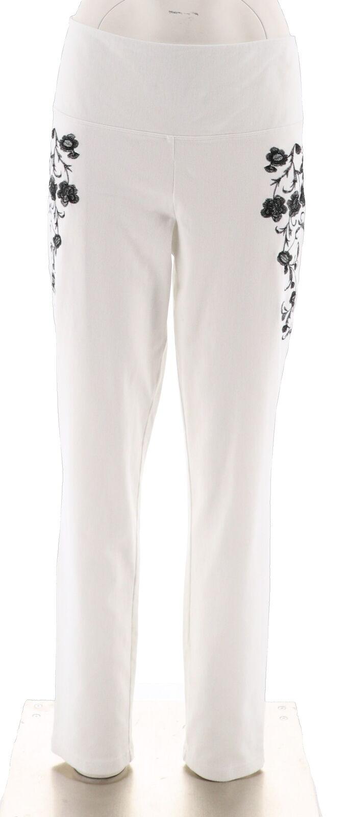 Women with Control Petite Prime Stretch Denim Novelty Jeans Color Black Size L