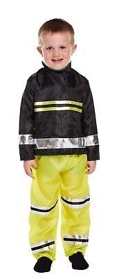 Toddler Boy Fireman Fancy Dress Up Party Costume Child Age 3 World Book Day NEW (Boy Dress Up)