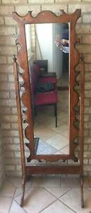 Rustic Ornate Full Length Free Standing Timber Mirror