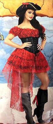 Cute Modest Halloween Costumes (Pirate Wench Adult Woman Costume Small 2–6 Halloween Cosplay Sexy)