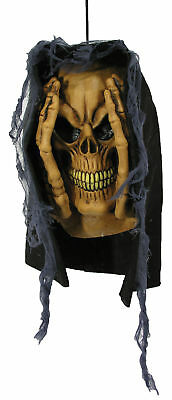 Peeping Tom Window Prop Hooded Skeleton Head Halloween Forum Novelties - Peeping Tom Halloween