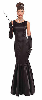 Womens Audrey Hepburn Fancy Dress Costume Hollywood Film Star Glamours Outfit ()