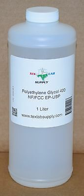 Tex Lab Supply Polyethylene Glycol 400 Peg 400 Nf-fccep-usp 1 Liter