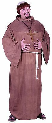 Medieval Monk Friar Priest Robe Religious Adult Costume, Plus Size
