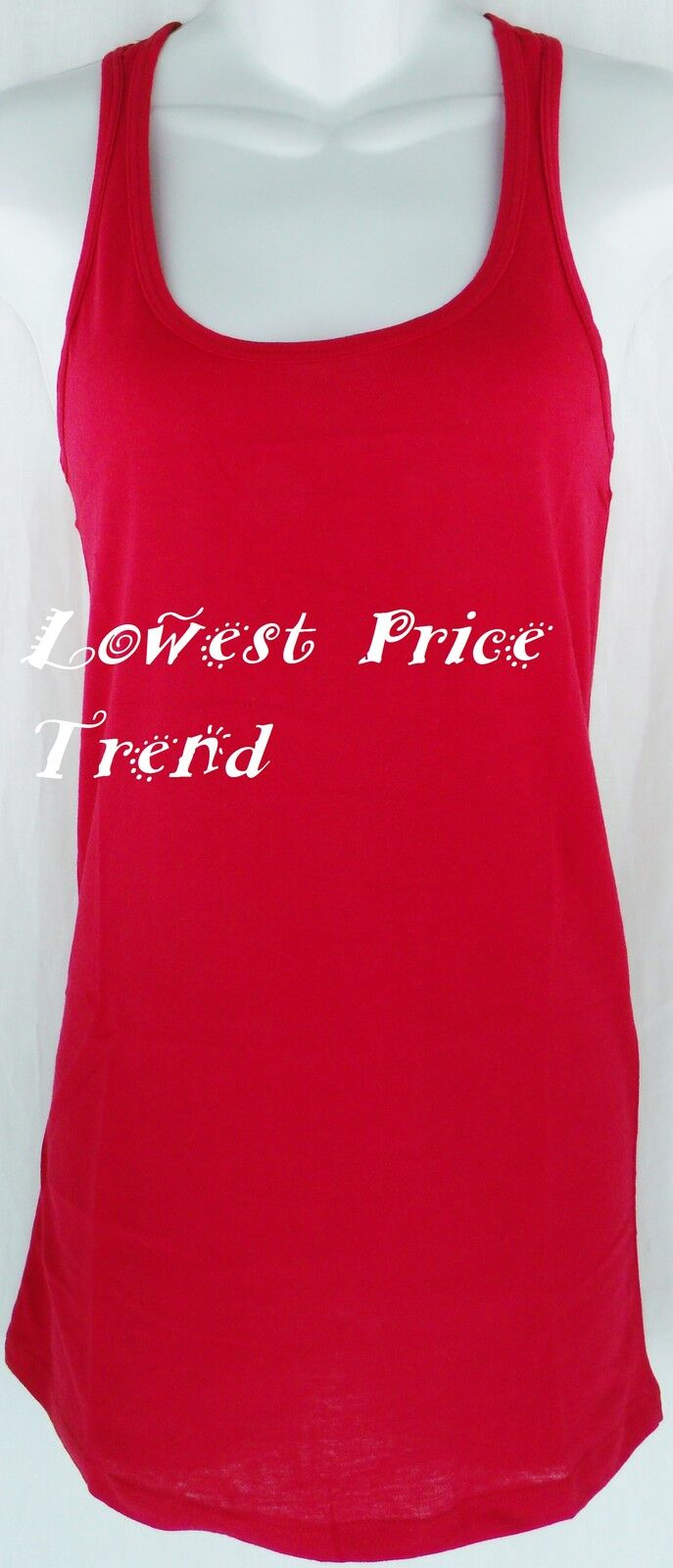 WHOLESALE PRICE, Racerback Tank Top 100% Cotton Basic Solid Hot Tee Cami TT402