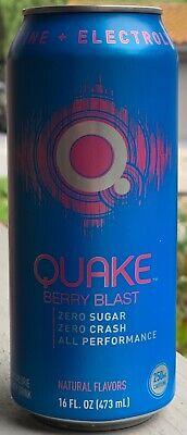 NEW QUAKE ENERGY BERRY BLAST DRINK 16 FL OZ FULL CAN 7-ELEVEN EXCLUSIVE BUY IT Blast Energy Drink