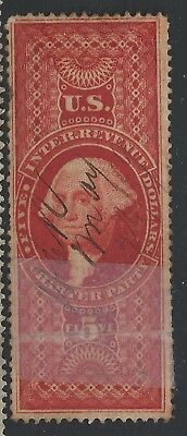R 88C   5 Charter Party  Revenue  Stamp Dated Ms Cancel  49