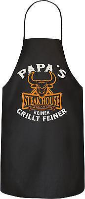 Grill Garten Schürze Papa's Steakhouse American grill Keiner grillt feiner