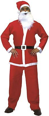 Adults Christmas Xmas Santa Claus Stag Hen Party Fancy Dress Costume For All (Santa Claus Costumes For Adults)