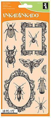 Beetles & Frames Halloween Unmounted Clear Rubber Stamp Set INKADINKADO 60-31334](Halloween Beetles)