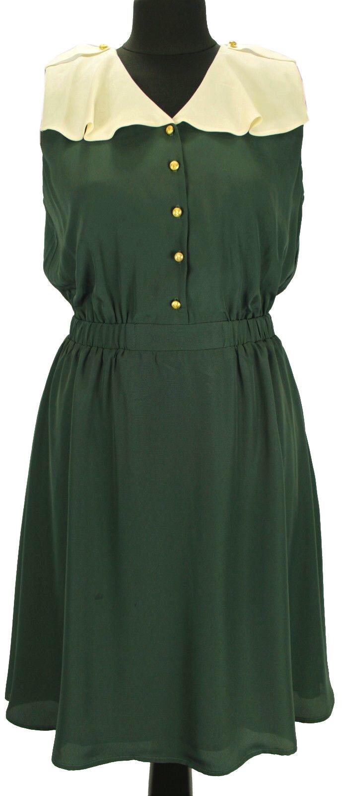 Mint & Berry Hausfraukleid Damen Sommerkleid Abendkleid Kontrast Joch Kleid Stil