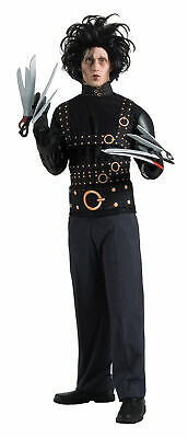 Edward Scissorhands Adult Mens Costume Jacket Wig Johnny Depp Halloween