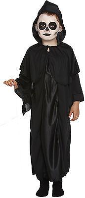 Boys Grils Kids Childs Grim Reaper Ghost Scream Halloween Fancy Dress Costume