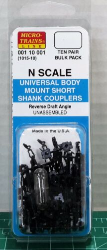 N Scale MicroTrains Universal Body Mount Coupler 10 Pair Item#00110001 (1015-10)