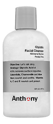 Anthony Glycolic Facial Cleanser 8 fl oz 237 ml. Sealed (Anthony Glycolic Facial Cleanser)