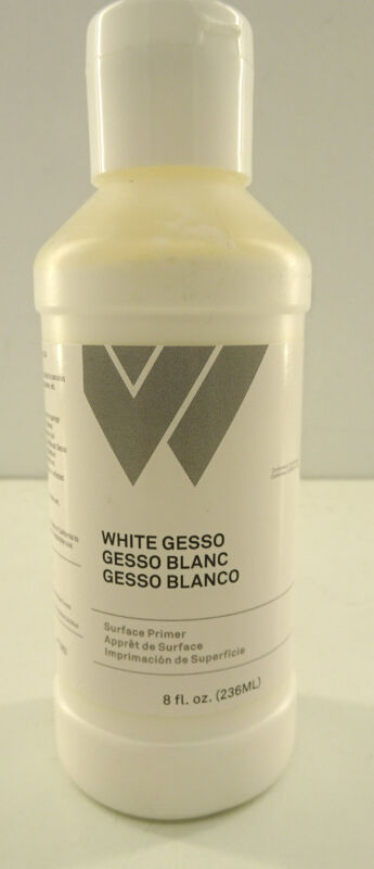 Weber White Gesso Surface Primer  8 oz  / 236 ml   MADE IN USA