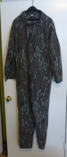 Vintage   Camo Camoflage Treebark Hunting Suit Coveralls Size XL