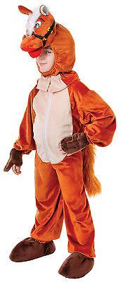 # Kinder Tier # Braun Pferd Buchwoche Outfit mit Kopf (Braunes Pferd Kind Kostüm)