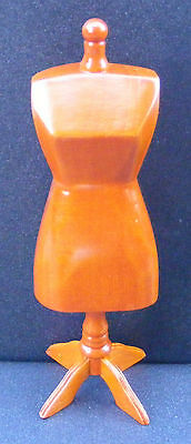 1:12 Wooden Tailors Dummy Dolls House Miniatures Dress Making Manequin Accessory