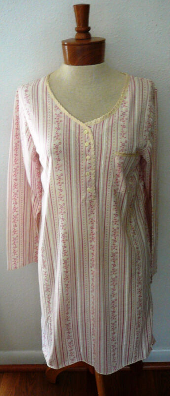 LATI FASHION SLEEPWEAR GOWN~Button Front~Long Sl.~Colors-Size Vary~NWT~FREE SHIP