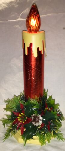 VINTAGE GIANT ELECTRIC CANDLE CENTERPIECE - WORKS GREAT!