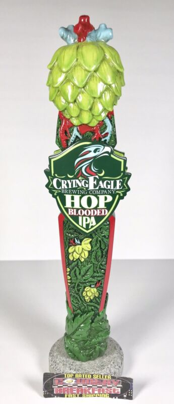 "Crying Eagle Hop Blooded IPA Beer Tap Handle 12"" Tall - Brand New No Box RARE!"