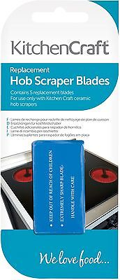 - Kitchen Craft Pack Of 5 Stainless Steel Ceramic Hob Cleaner Scraper Spare Blades