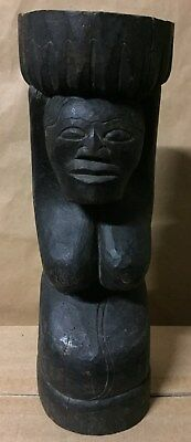 Antiques/ Vintage Indonesian  Wood Carved Totem 35cm High