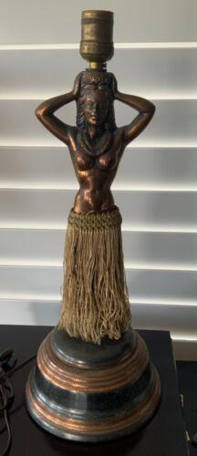 Vintage 1940s Original Hawaiian Hula Dancing Girl Lamp..READ......