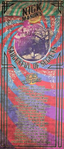 Nick Mason signed Pink Floyd's Saucerful or Secrets Tour Poster RARE FA LOA