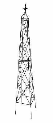 Extra Large Diamond Garden Metal Obelisk 2.5m  - Climbing Plant Support Pyramid