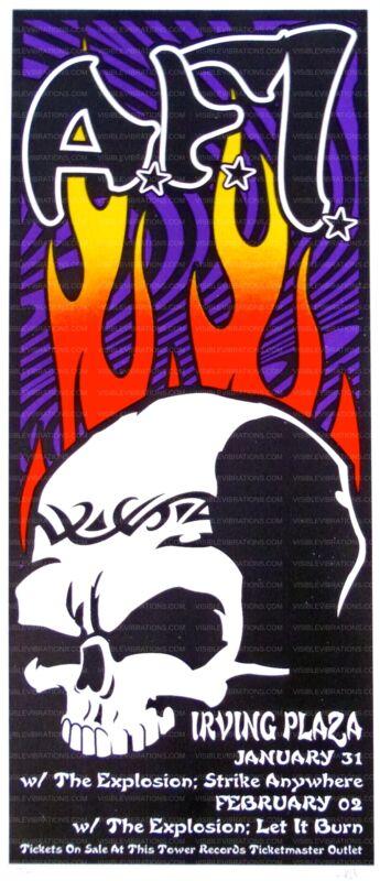 AFI Concert Poster Scott Benge S/N NYC 2003