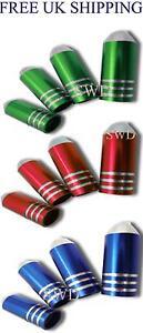 Bullet-Valve-caps-Bike-or-Car-Dust-Caps-Green-Red-Blue-Silver-Chrome-Bullet-Caps