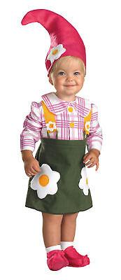 Baby Girl Gnome Costume (Flower Garden Gnome Costume Infant Toddler Green Skirt Elf Cute)
