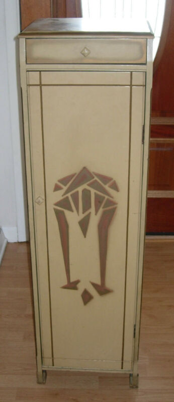 Vintage  Oscar Onken  Store Display Cabinet  Modern Abstract  C. 1920