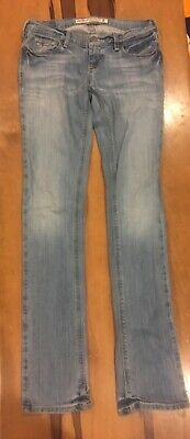 Hollister womens light blue wash stretch denim jeans pants size 0 regular