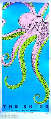 THE SHINS Original Concert Poster S/N Print Mafia - Pink Octopus - SILKSCREEN