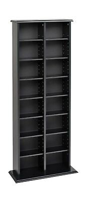 Prepac BMA-0320 Double Media (DVD,CD,Games) Storage Tower, (Double Cd Tower)